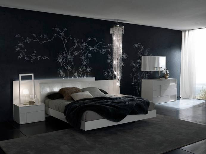 Interior Black Master Bedroom black master bedroom decorating ideas with laminate floor floor