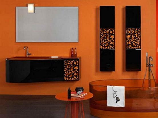 Orange Bathroom Color Schemes Decolover Net