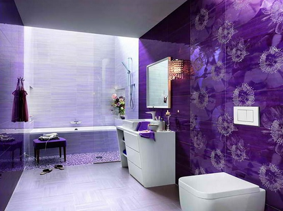 Merveilleux Purple Bathroom Color Schemes