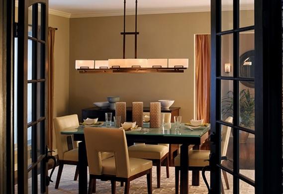 Rectangular Dining Room Chandeliers On Minimalist Decor