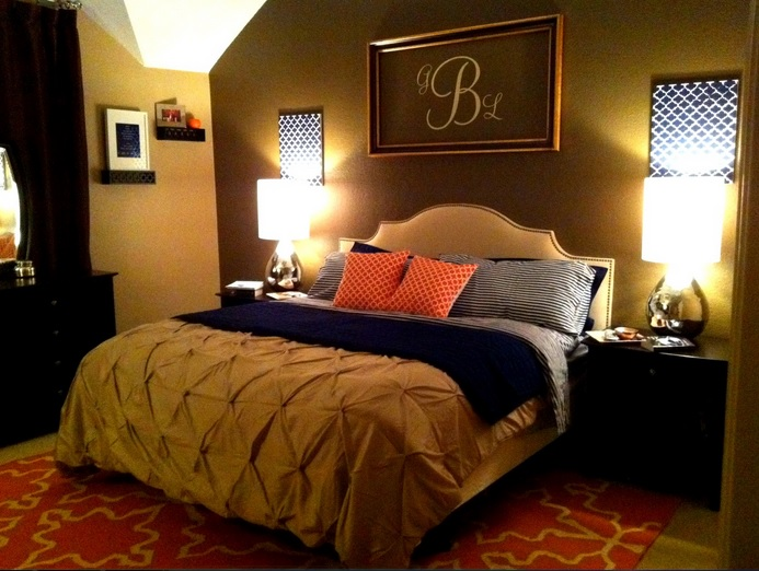 Simple Master Bedroom Decorating Ideas With Red Carpet Floor