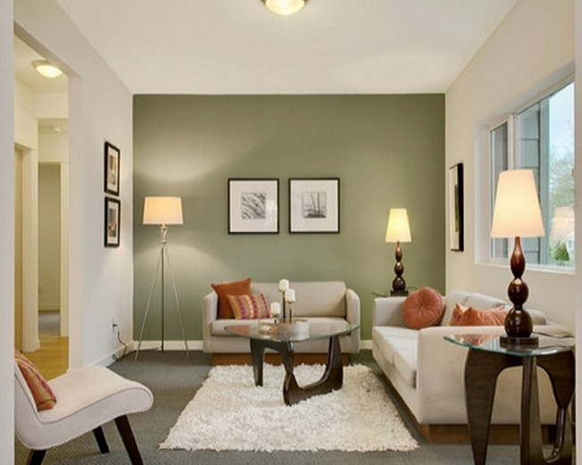 Small living room ideas to make enjoyable and easy your for Simple green living room designs