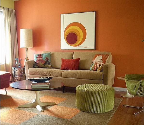 wall paint for brown furniture. Small Living Room Ideas With Orange Wall Paint And Brown Sofa For Furniture N