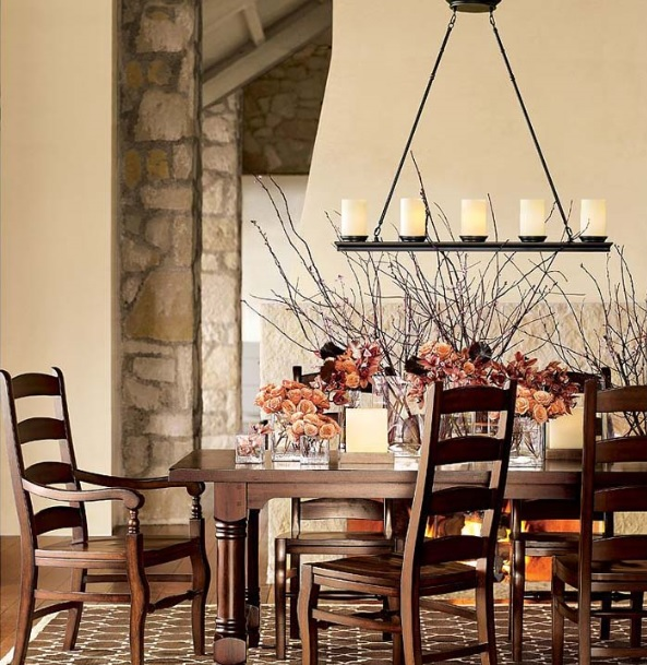 Unique Dining Room Lighting: Rustic Chandeliers Wrought Iron Style