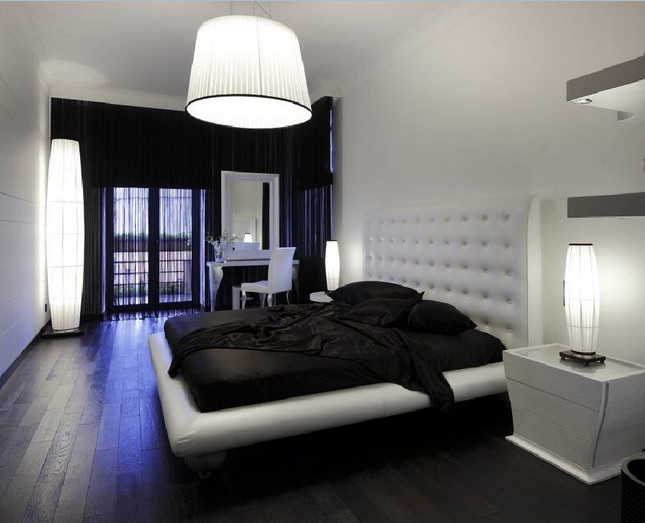 Master Bedroom Decorating Ideas With Black Laminate Floor And Other Related  Images Gallery: