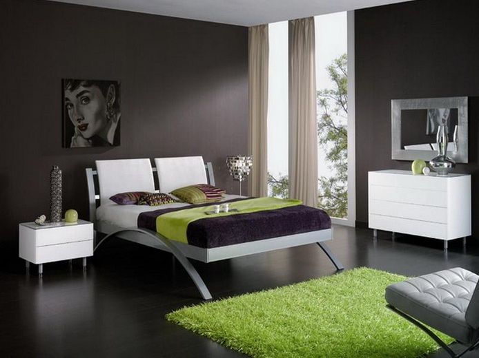 Bedroom Color Ideas For White Furniture Part - 39: All Black Master Bedroom Color Ideas With White Furniture