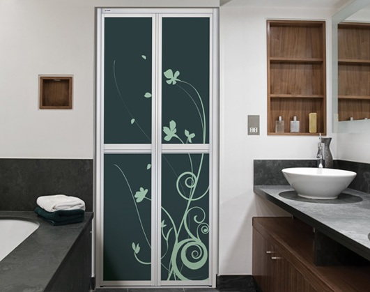 Beautiful Bathroom Doors beautiful purple bathroom doors for small spaces | decolover