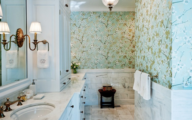 Perfect Beautiful Bathroom Wallpaper For Bathroom Decorating Ideas On A Budget