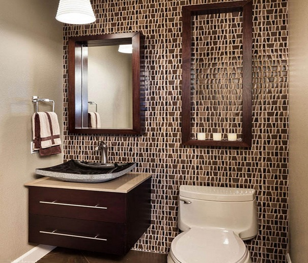 10 decorative small bathroom backsplash ideas with for Beautiful small bathroom designs