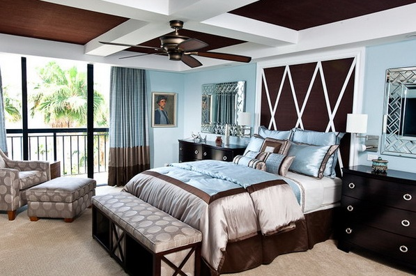 20 bedroom color ideas to make comfortable bedroom 20656 | brown and light blue color scheme ideas for bedroom