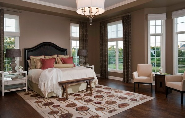 Brown Color Scheme For Traditional Bedroom Color