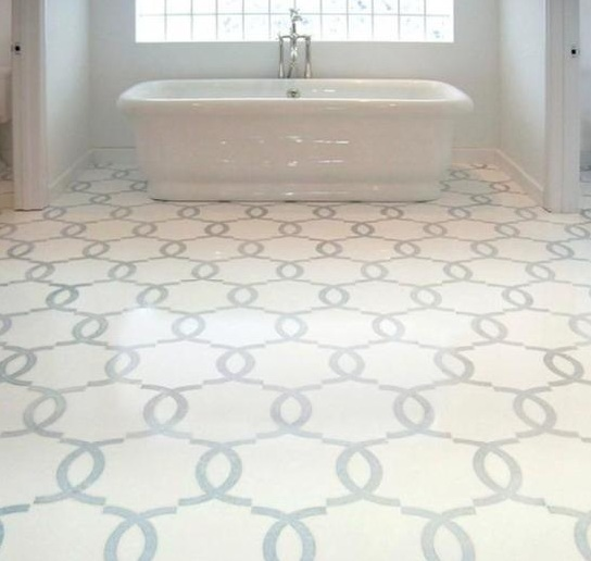 Mosaic Bathroom Tile Ideas: Classic Mosaic As Vintage Bathroom Floor Tile Ideas