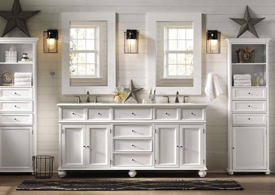 Bathroom cabinets double sink ideas for maximizing space in bathrooms for Pictures of bathrooms with double sinks