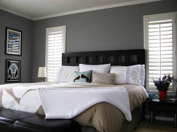 Gray Bedroom Colors With Black Furniture