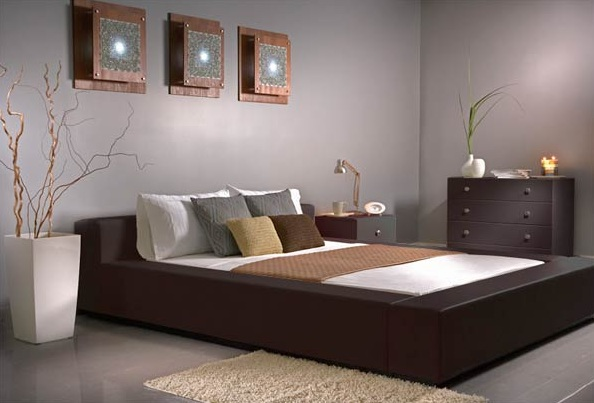 Gray Classy Bedroom Color Ideas With Brown Furniture Decolovernet - Bedroom color schemes with brown furniture
