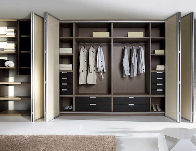 Custom made contemporary storage design for master bedroom for Design of master bedroom cabinet