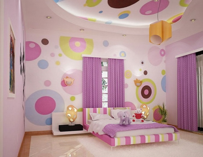 Pink Simple Kids Bedroom Ideas For Girls