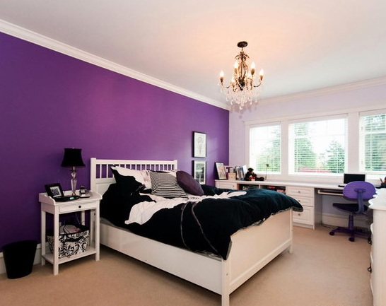 purple bedroom color ideas for teenage girls - Girls Bedroom Color