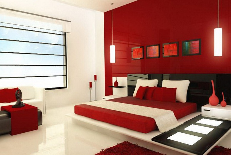 Red And White Master Bedroom Color Ideas