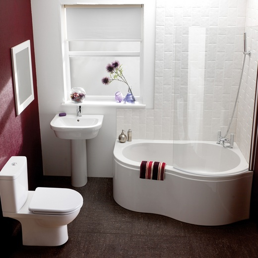 red and white bathroom wall color for small bathroom - Red And White Bathroom