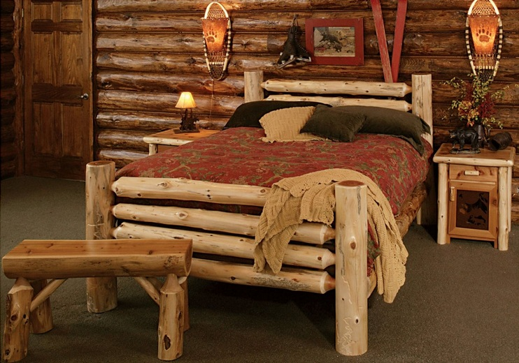 Rustic Bedroom Ideas With Natural Wooden Furniture Style