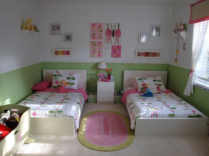 Shared bedroom ideas for kid girl for Girls bedroom decor ideas