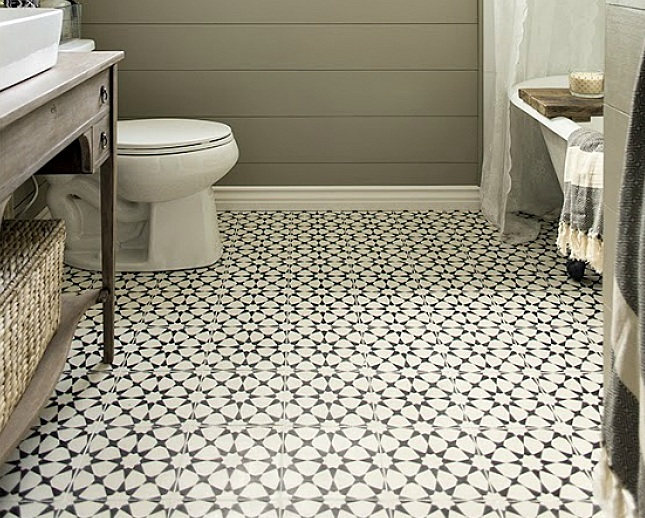 Classic mosaic as vintage bathroom floor tile ideas Classic bathroom tile ideas