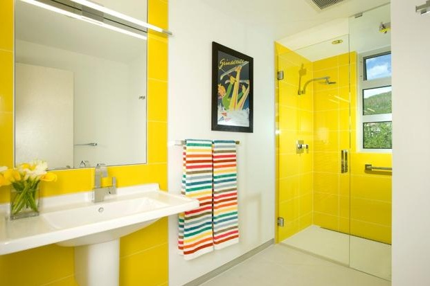 Yellow And White Bathroom Decorating Ideas purple wall tile bathroom colors for small bathroom decor