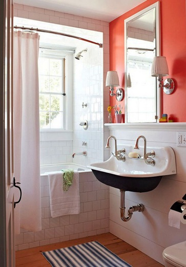 21 bathroom colors for small bathrooms samples and ideas white orange bathroom colors for small bathroom mozeypictures Choice Image