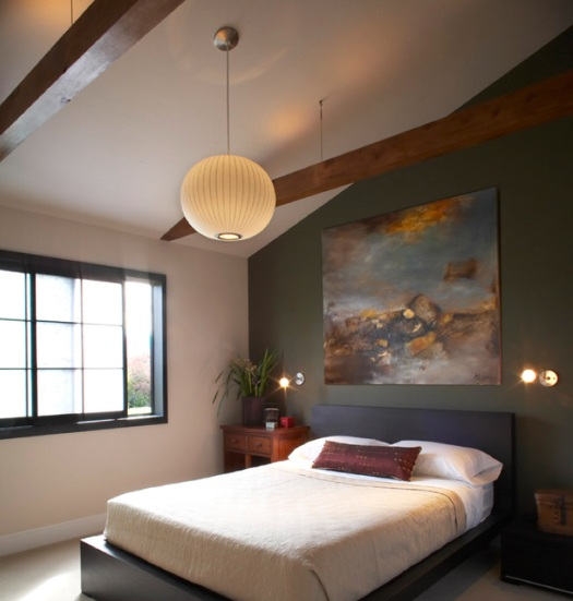 Simple bedroom ceiling lights ideas with fans for Zen type bedroom ideas