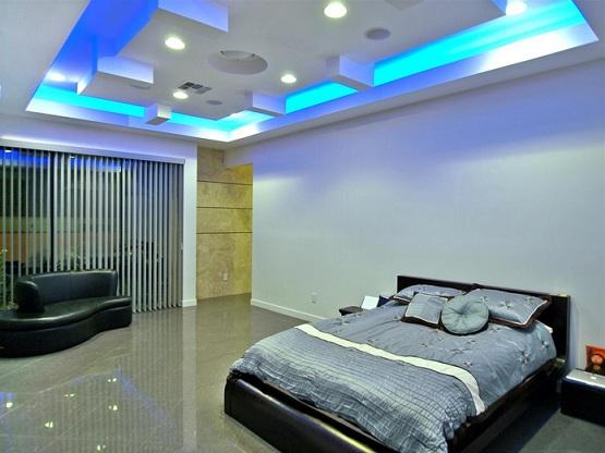 ceiling led lighting ideas - 24 Impressive Bedroom Ceiling Lights Ideas