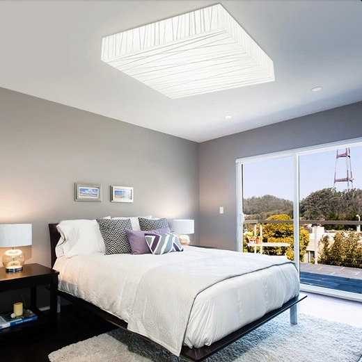 Bedroom Light Fixtures Ideas: LED Square Lights Bedroom Ceiling Lights Ideas