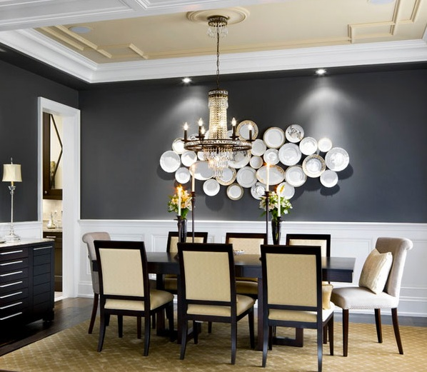 Black And White Dining Room Wall Decor Leadersrooms