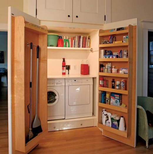 Custom Laundry Closet Storage Ideas
