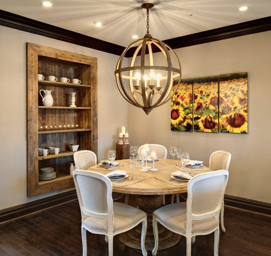 Dining room wall decor ideas with rustic ceramic wall art ...