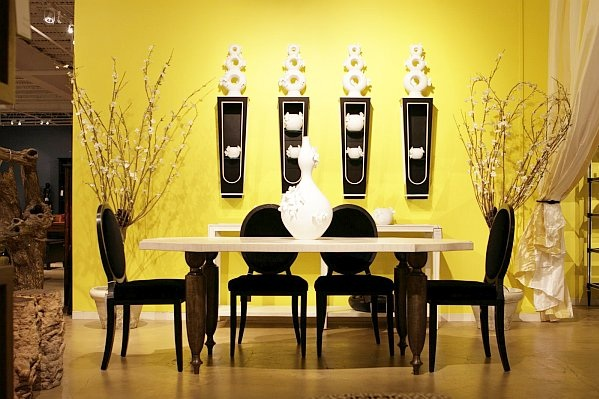 contemporary dining room wall decor with unique wall art