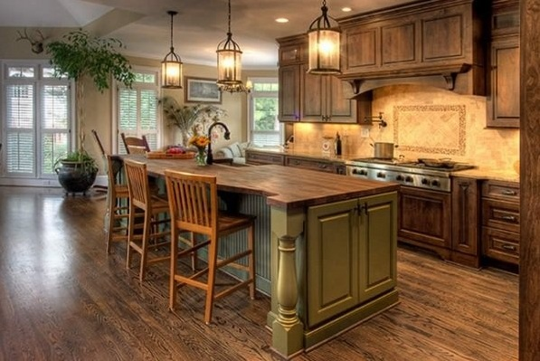 French Country Kitchen Decorating With Yellow Painted Furniture And Other Related Images Gallery