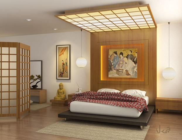 Most Beautifull Deco Paint Complete Bed Set: Colorful Japanese Bedroom Style With Big Mirror