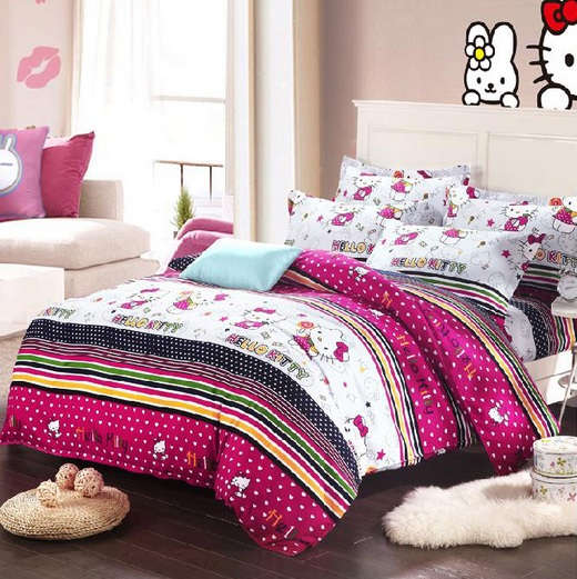 Bedroom Ideas Hello Kitty Soft Bedroom Colors Childrens Turquoise Bedroom Accessories Bedroom Decorating Ideas Gray And Purple: Simple Hello Kitty Bedroom For Teenagers