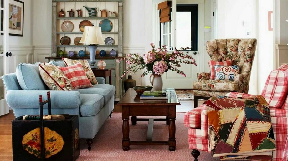 Shabby chic living room decor ideas and design for Vintage chic living room ideas