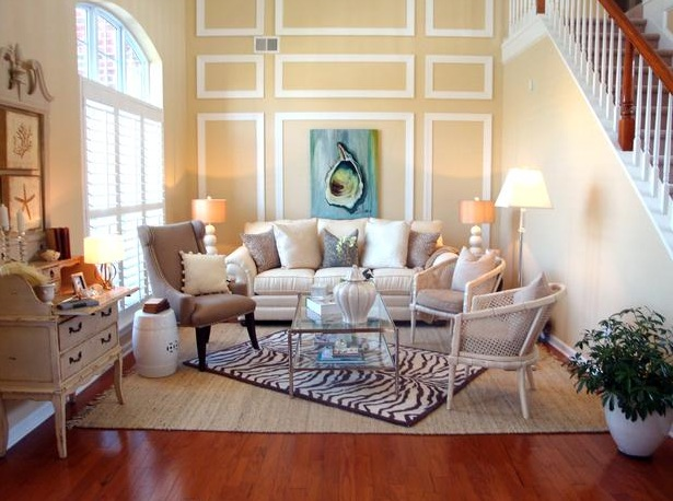 Shabby chic living room decor ideas and design for Trendy living room decor