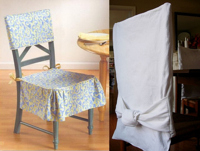 Simple diy dining room chair slipcovers ideas for Dining room chair cover ideas