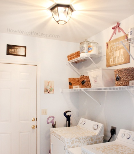 Small Laundry Room Ideas And Decor With Ceiling Fixture