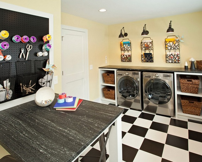 Small Laundry Room Ideas With Contemporary Cabinet Design