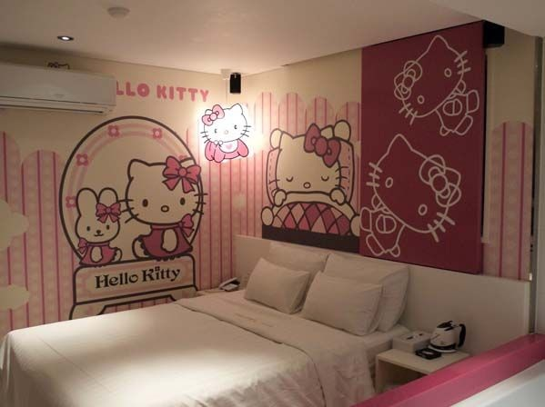 Wall Painting Hello Kitty Bedroom For Teenagers