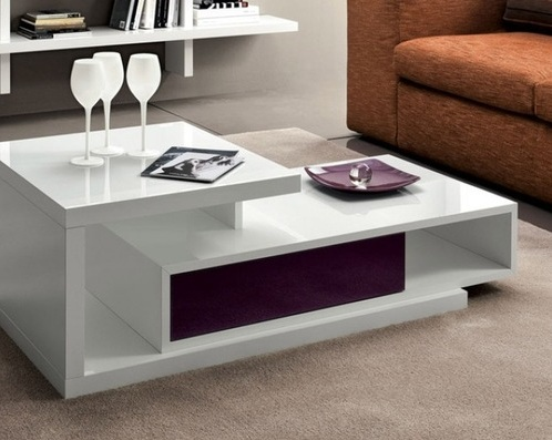 White gloss coffee table for living room furniture | Decolover.net