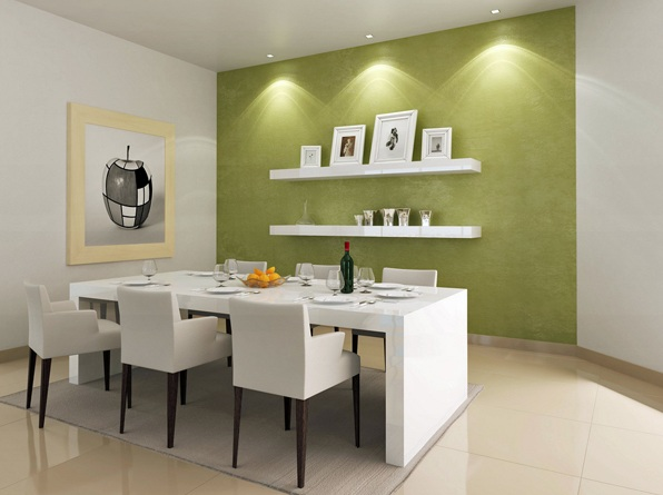 Most Popular Dining Room Paint Colors White Green With