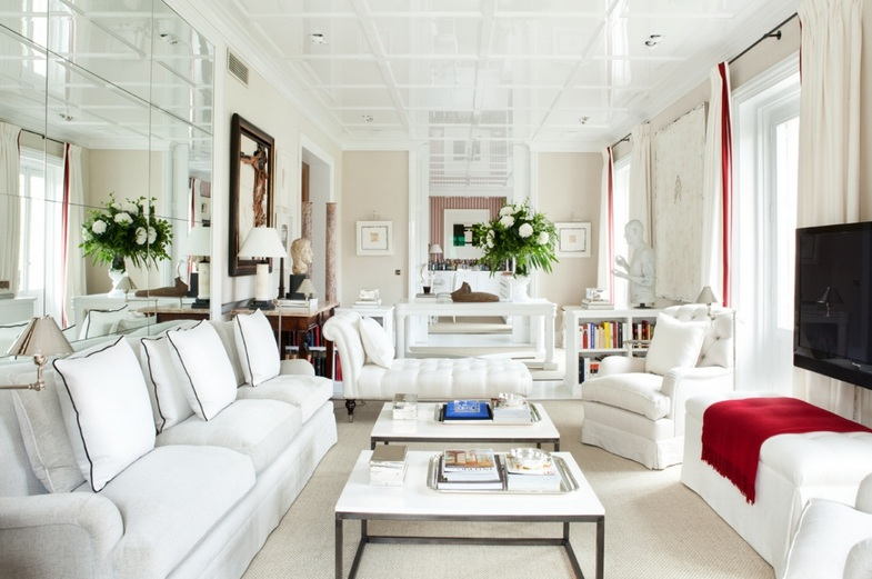 White Furniture Living Room Ideas - Home Design