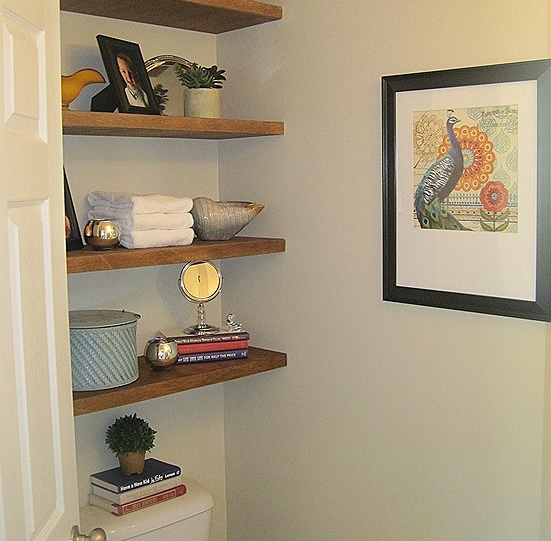 bathroom shelf over toilet ideas - Bathroom Decorating Ideas For Over The Toilet