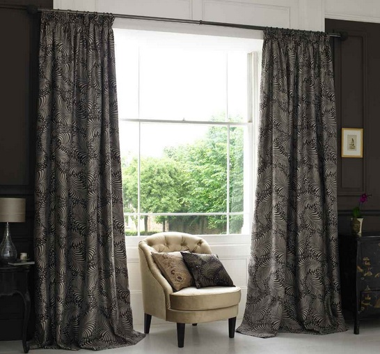 Black Patterned Curtains For Bedroom Window Curtains